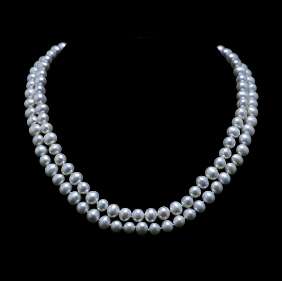 Wedding Bridal cultured freshwater pearl necklace